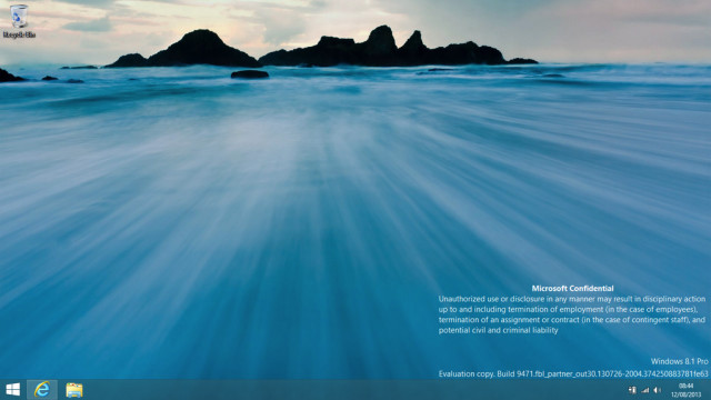 Windows 8.1 build 9471 x64 ins Web gelangt (Video)