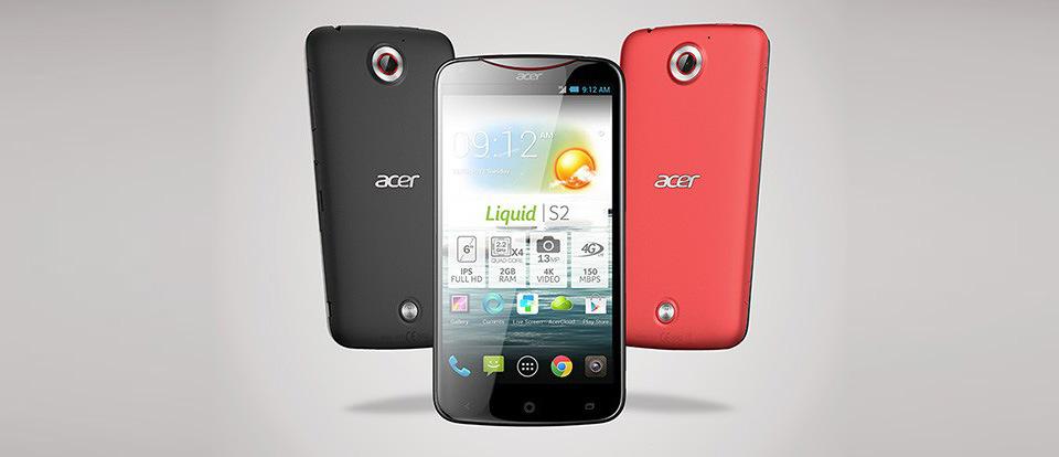 Acer Liquid S2 vorgestellt – 6 Zoll Phablet mit Unterstützung für 4K UltraHD Videoaufnahmen