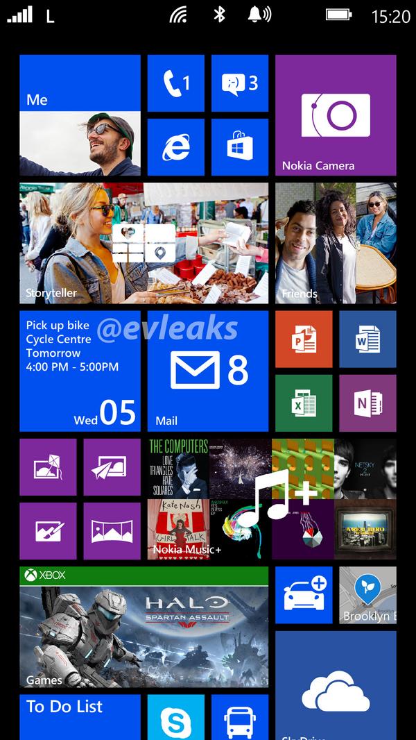 """Erster Screenshot vom Homescreen des Nokia Lumia 1520 """"Bandit"""" geleakt"""