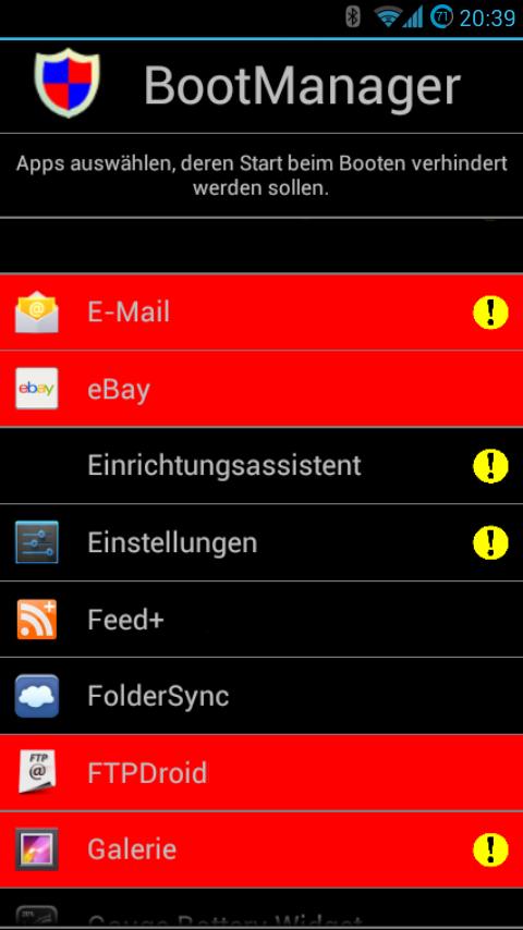 """Mit """"BootManager"""" das automatische Starten von Apps unter Android konfigurieren"""