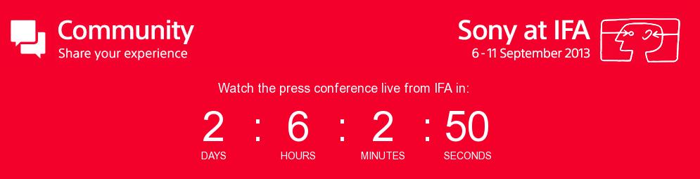 Sony's Pressekonferenz am 04.September von der IFA 2013 per Livestream verfolgen