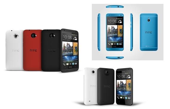"""HTC stellt """"HTC Desire 601, """"HTC Desire 300"""" und """"HTC BoomBass"""" offiziell vor & kündigt blaues Modell des HTC One und HTC One Mini an"""