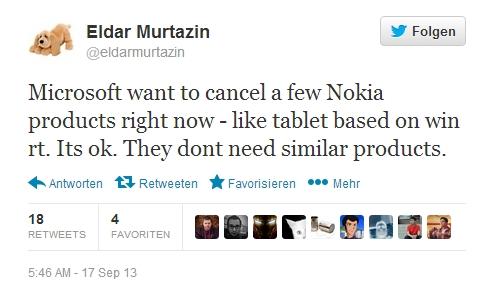 """Wird das Nokia Tablet """"Sirius"""" aufgrund der Übernahme durch Microsoft gar nicht erscheinen ?"""