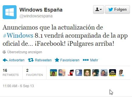 Offizielle Facebook-App für Windows kommt am 17.Oktober
