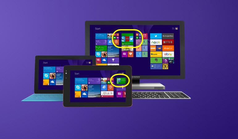 App-Empfehlungen demnächst auf der Windows 8.1 Startseite