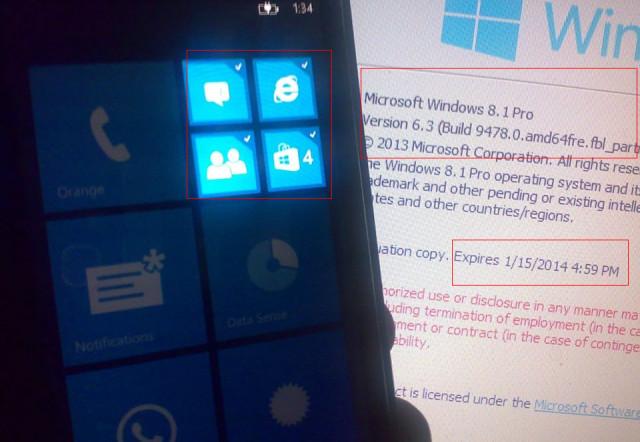 Screenshot-Leak zeigt Benachrichtigungszentrum und Multi-Tile Auswahl bei Windows Phone 8.1