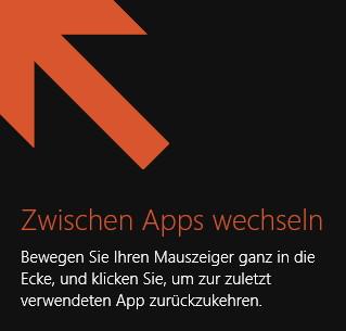 Hilfspfeile in den Ecken von Windows 8.1 entfernen
