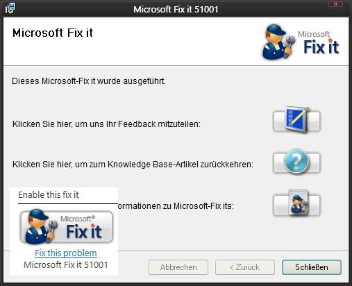 Fixit für den Internet Explorer 6 bis 11