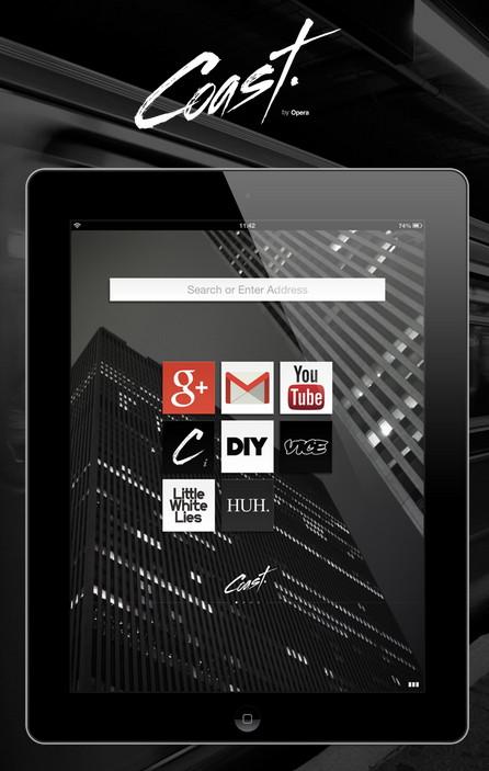 Opera-Coast Ein Browser für das iPad und iPad Mini