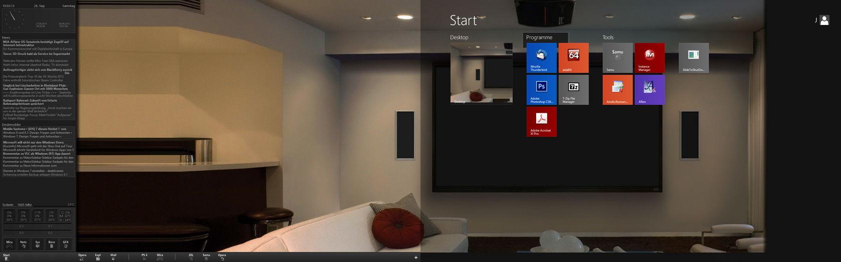 Windows 8.1 mit Dual- oder mehreren Monitoren