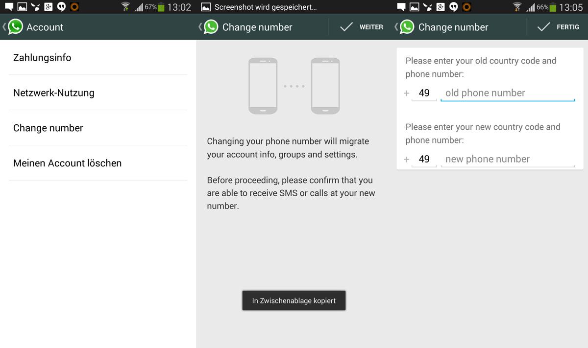 Neue Version von WhatsApp bringt Unterstützung beim Rufnummerwechsel mit