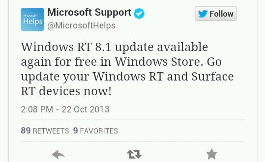 Windows RT Update wieder im Windows Store