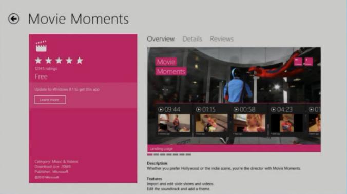 Einige Apps werden zum Update auf Windows 8.1 auffordern
