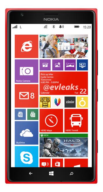 """Bild eines rotes """"Nokia Lumia 1520"""" ins Netz gelangt"""