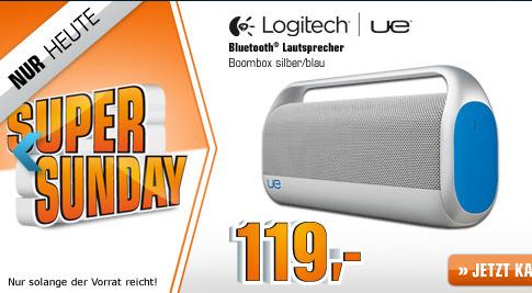 """Saturn """"Super Sunday"""" heute u.a. mit der Logitech UE Boombox"""