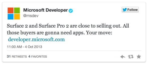 Surface 2 & Surface 2 Pro offensichtlich aktuell bereits ausverkauft