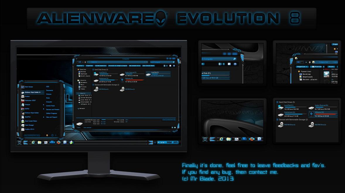 Alienware Evolution Theme für Windows 8 | Deskmodder.de