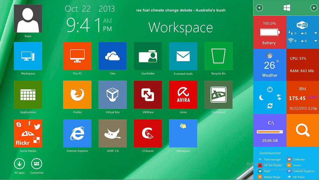 AveDesk auf Windows 8.1 – Desktop mit einer Modern UI ausgestattet