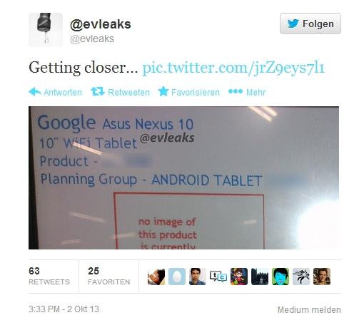 """Kommendes """"Nexus 10"""" kommt von ASUS – Weiterer Screenshot bestätigt Asus als Hersteller"""