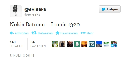 """Nokia """"Batman"""" soll als Lumia 1320 erscheinen"""