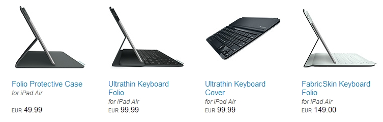 """Logitech präsentiert neue Tastaturen und Cover für das """"Apple iPad Air"""""""