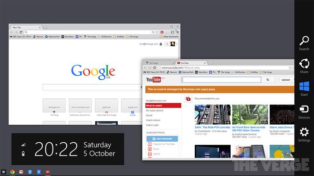 [Kurzinfo] Google baut Chrome-Aussehen unter Windows 8 um