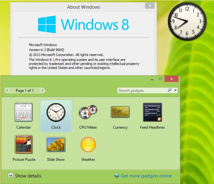 Windows 8.1 / 8 Desktop Gadgets und Sidebar stirbt nicht aus