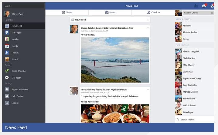 Offizielle Facebook App für Windows 8.1 erschienen