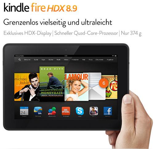 Amazon Kindle Fire HDX kann ab sofort vorbestellt werden