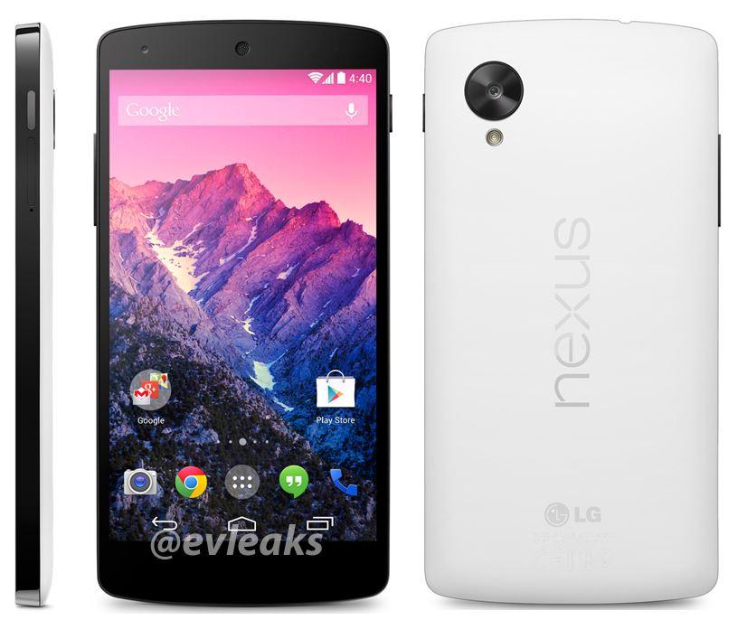Weißes Nexus 5 zeigt sich