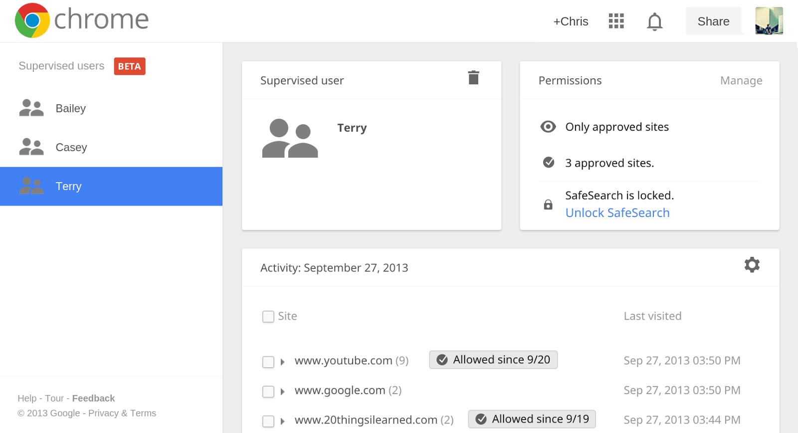"""""""Beaufsichtigungsfunktion"""" in der BETA von Google Chrome aufgetaucht"""