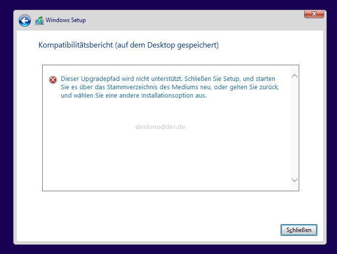 Das war es dann mit dem Inplace Upgrade unter Windows 8.1
