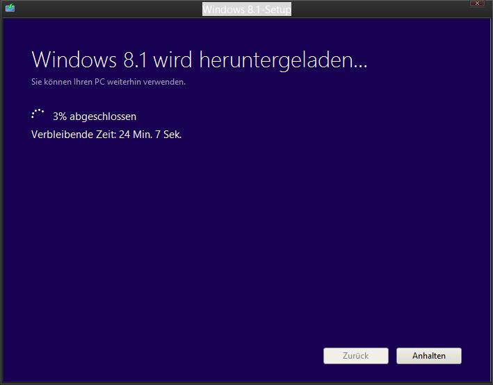 Windows 8.1 ISO mit dem Windows 8 Schlüssel herunterladen