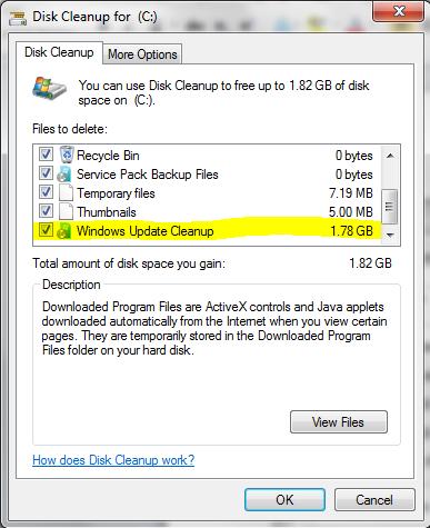 WinSxS Ordner unter Windows 7 SP1 verkleinern KB 2852386