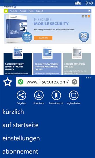 """""""Safe Browser"""" von F-Secure für Windows Phone verfügbar"""