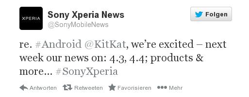 Sony gibt nächste Woche Update-Pläne für Android 4.3 und Android 4.4 bekannt