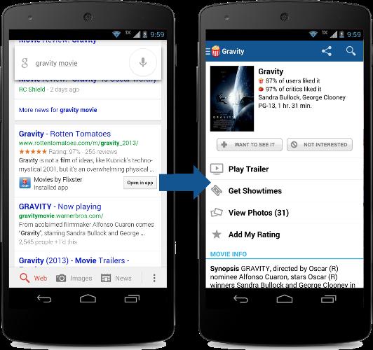 Google baut mobile Suche durch App-Indexing aus