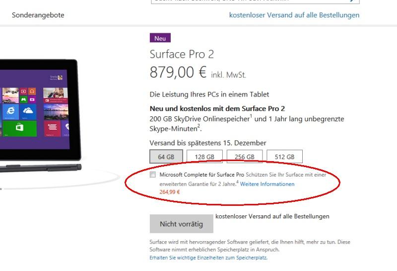 """""""Microsoft Complete"""" Versicherung für Surface 2 und Surface Pro 2 jetzt verfügbar"""