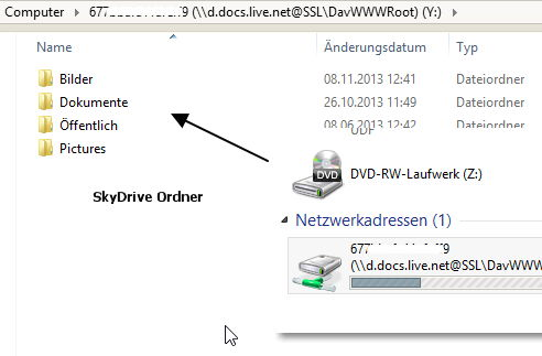 SkyDrive als Netzwerk in einem lokalen Konto nutzen Windows 8.1