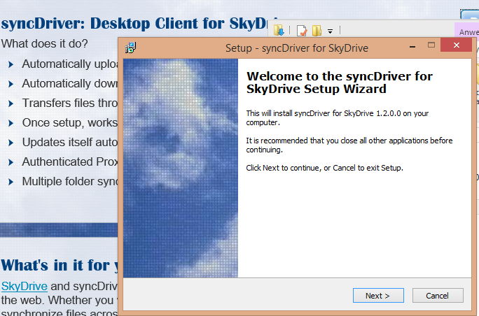 syncDriver: SkyDrive ohne Microsoft Account in Windows 8.1 nutzen