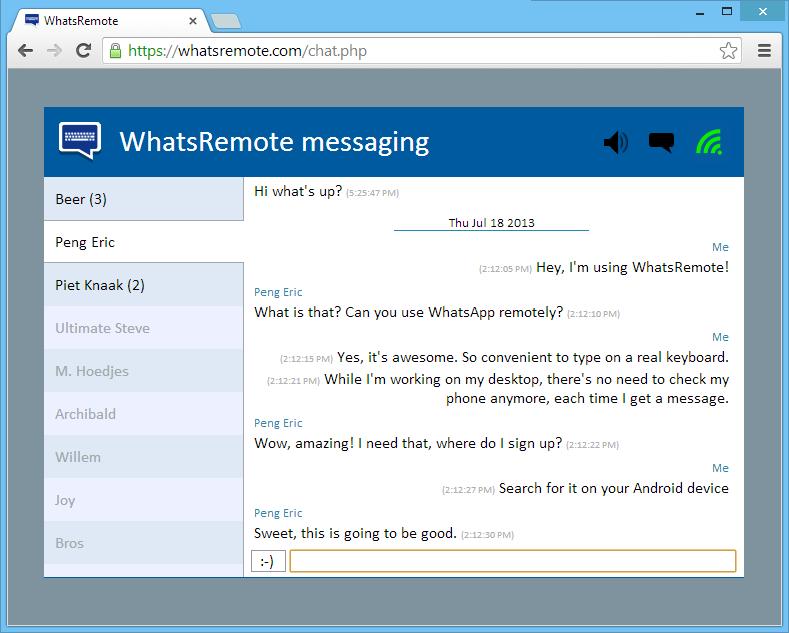 """""""WhatsApp"""" im Browser des PC's mit """"WhatsRemote"""" nutzen"""