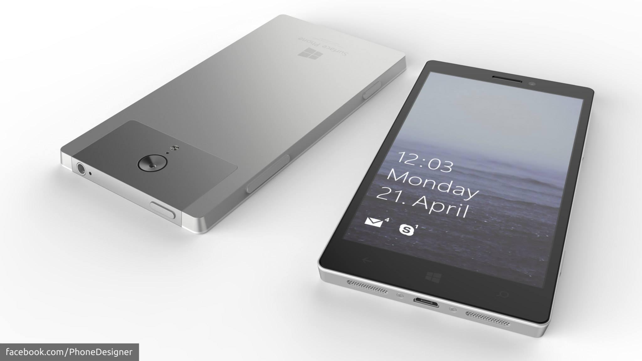 """Weiteres Konzept zu einem """"Surface Phone"""""""