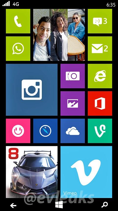Neuer Screenshot des Nokia Lumia 635 geleakt