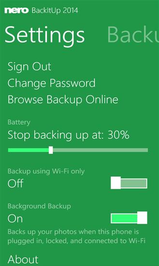 Nero BackItUp für Windows Phone erschienen