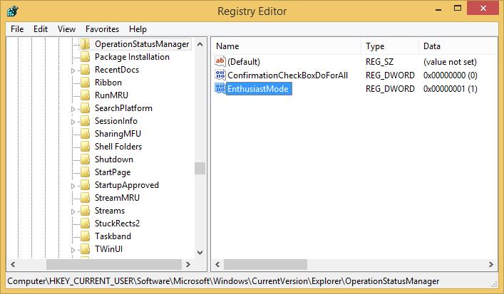 Detailansicht vom Kopierdialog unter Windows 8.1 standardmäßig aktivieren