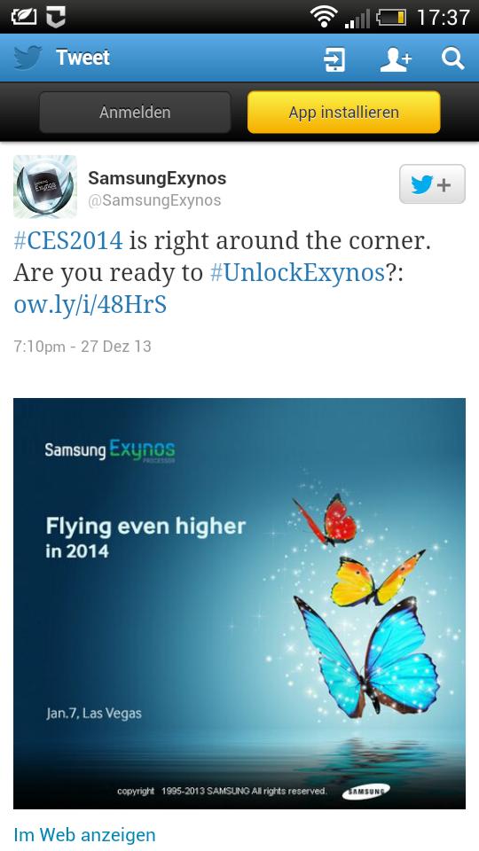 Samsung teasert eigene Exynos Prozessoren zur CES 2014 an