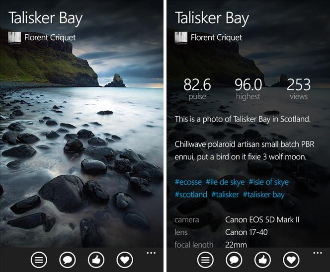 500px nun auch als Windows Phone App