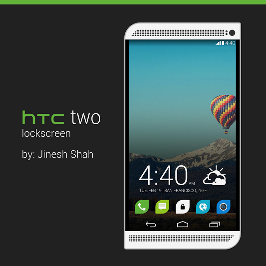 HTC two lockscreen