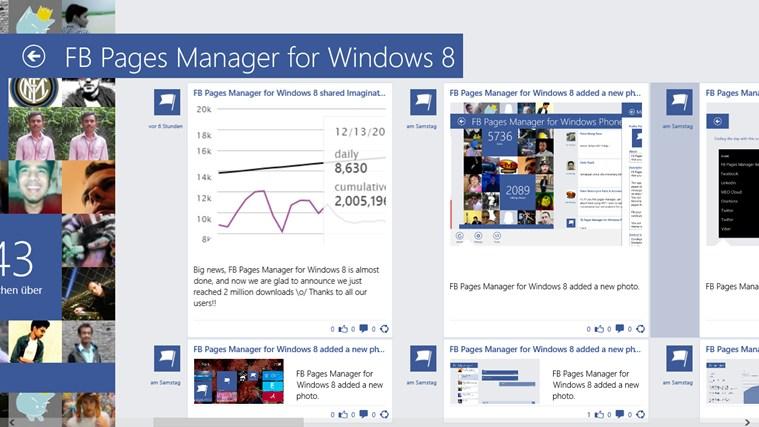 FB Pages Manager für Windows 8.1 veröffentlicht