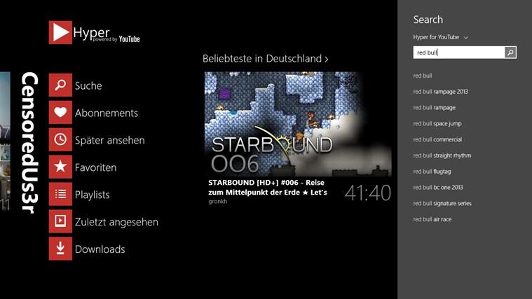 "[Kurzinfo] YouTube-App ""Hyper"" für Windows 8.1 bekommt Update"